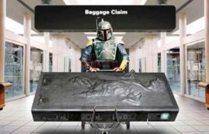 Boba Fett baggage claim