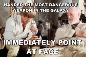 Point light saber