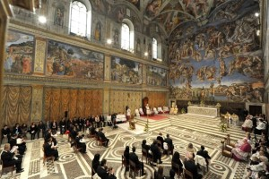 Sistine still in use--history alive.