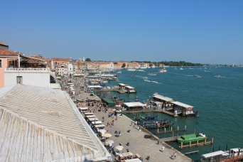 The harbor in Venice--looks like a post card doesn't it?