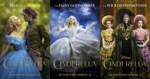 Cinderella three posters